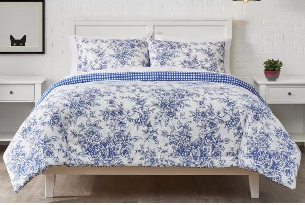 blue toile king comforter set