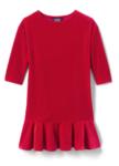 girls velveteen drop waist dress