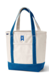land's end blue and natural canvas bag