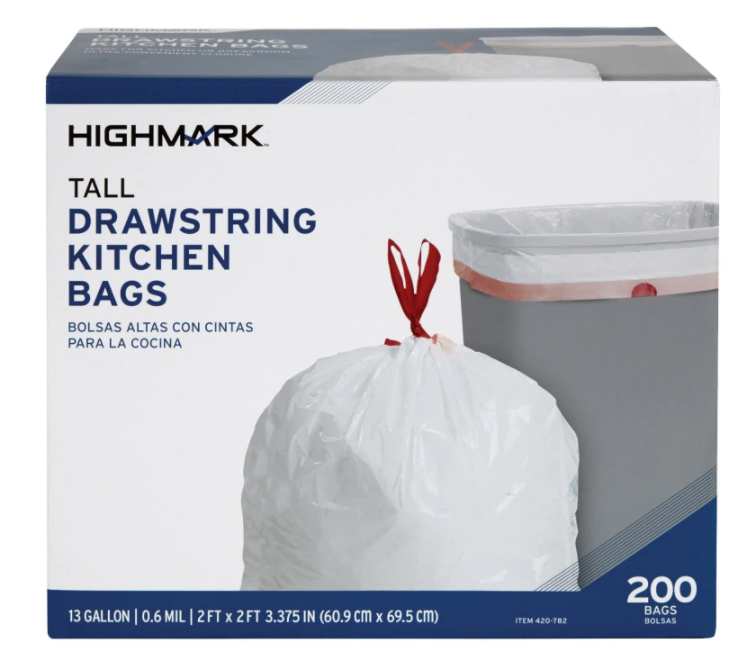 200-count kitchen trash bags