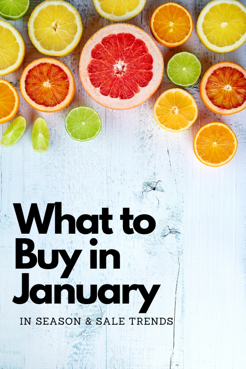 Part of saving money is buying things at the right time. Check out the January grocery trends to see what's in season and deals to expect!