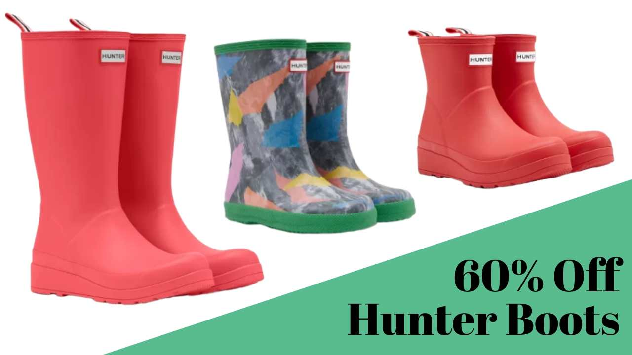 60% off hunter boots