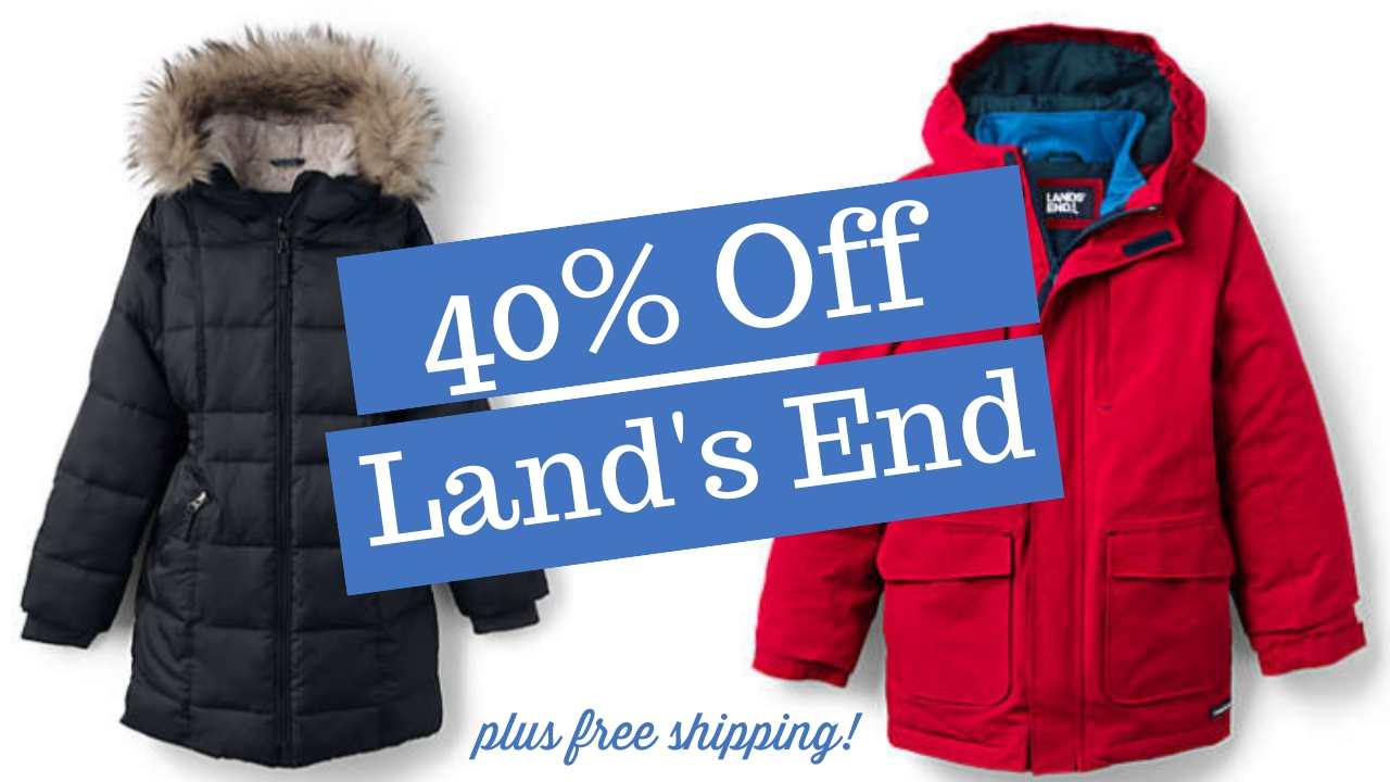40% off at land's end plus free shipping