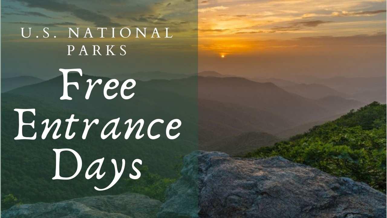 national park free entrance days