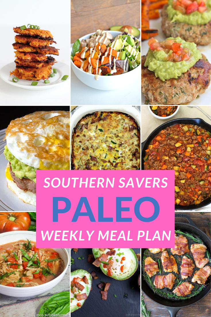 diet meal plan Trying the paleo diet this year? Get started with this easy paleo weekly meal plan to introduce you to simple recipes without getting overwhelmed!