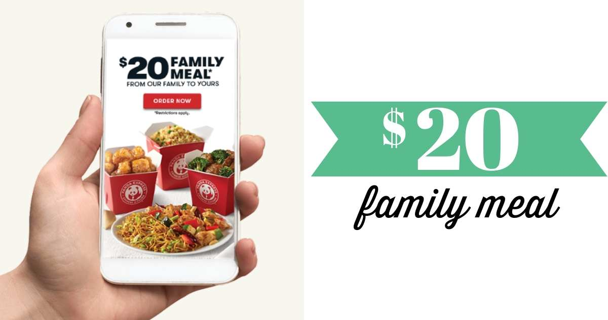 panda express $20 family meal
