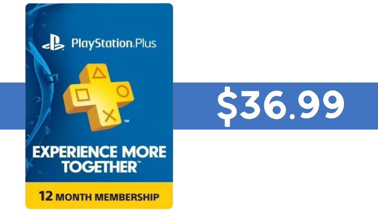 playstation plus subscription 36.99