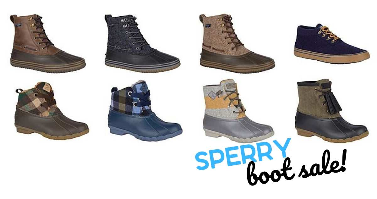 sperry boot sale