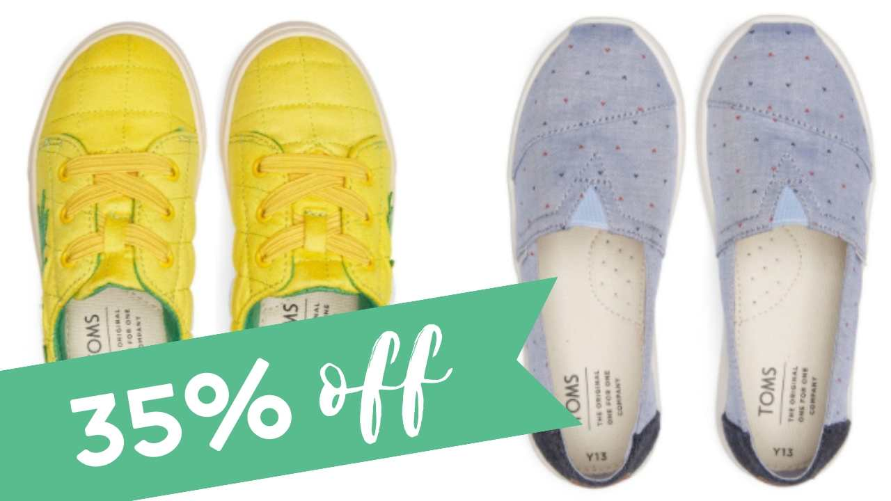 TOMS Coupon Code | Extra 35% Off + FREE
