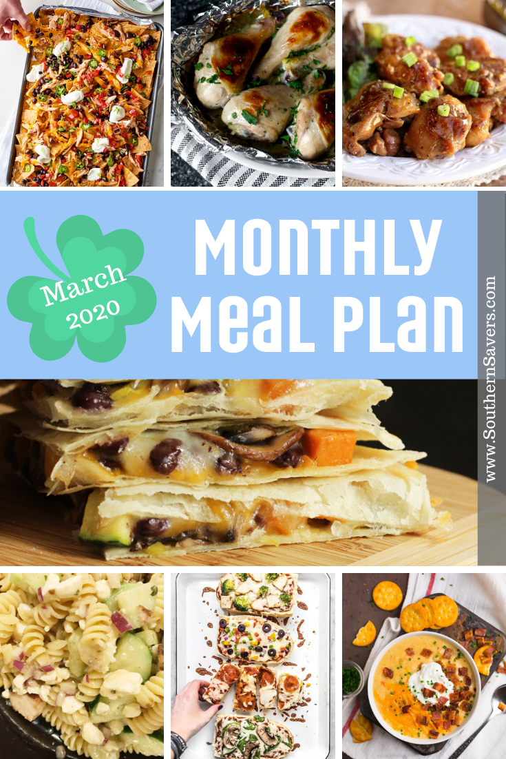 A new month means a new Southern Savers meal plan. This month I'm focusing on some new recipes as well as light weekend meals perfect for warm weather!