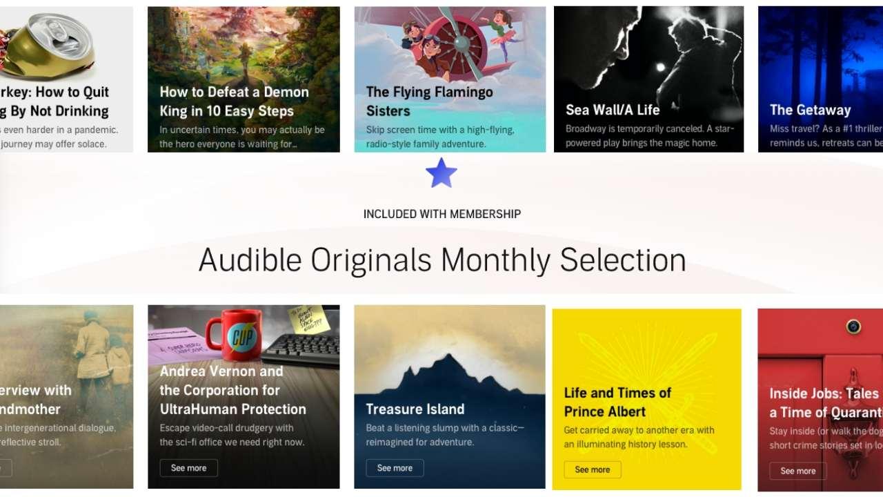 Audible Members Get 2 Free AUDIBLE ORIGINALS Every Month