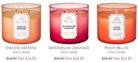 three-wick candles