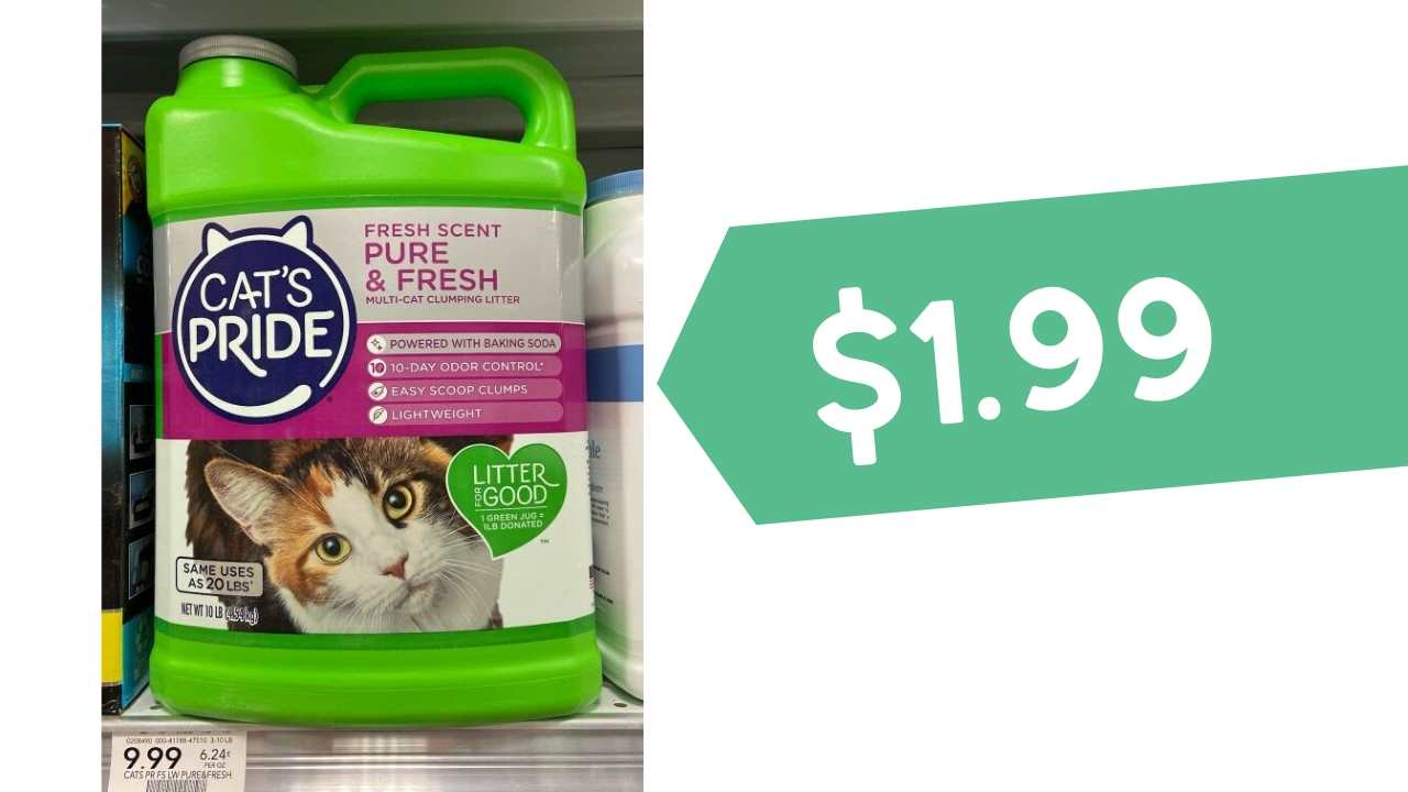 Cat's Pride litter $1.99