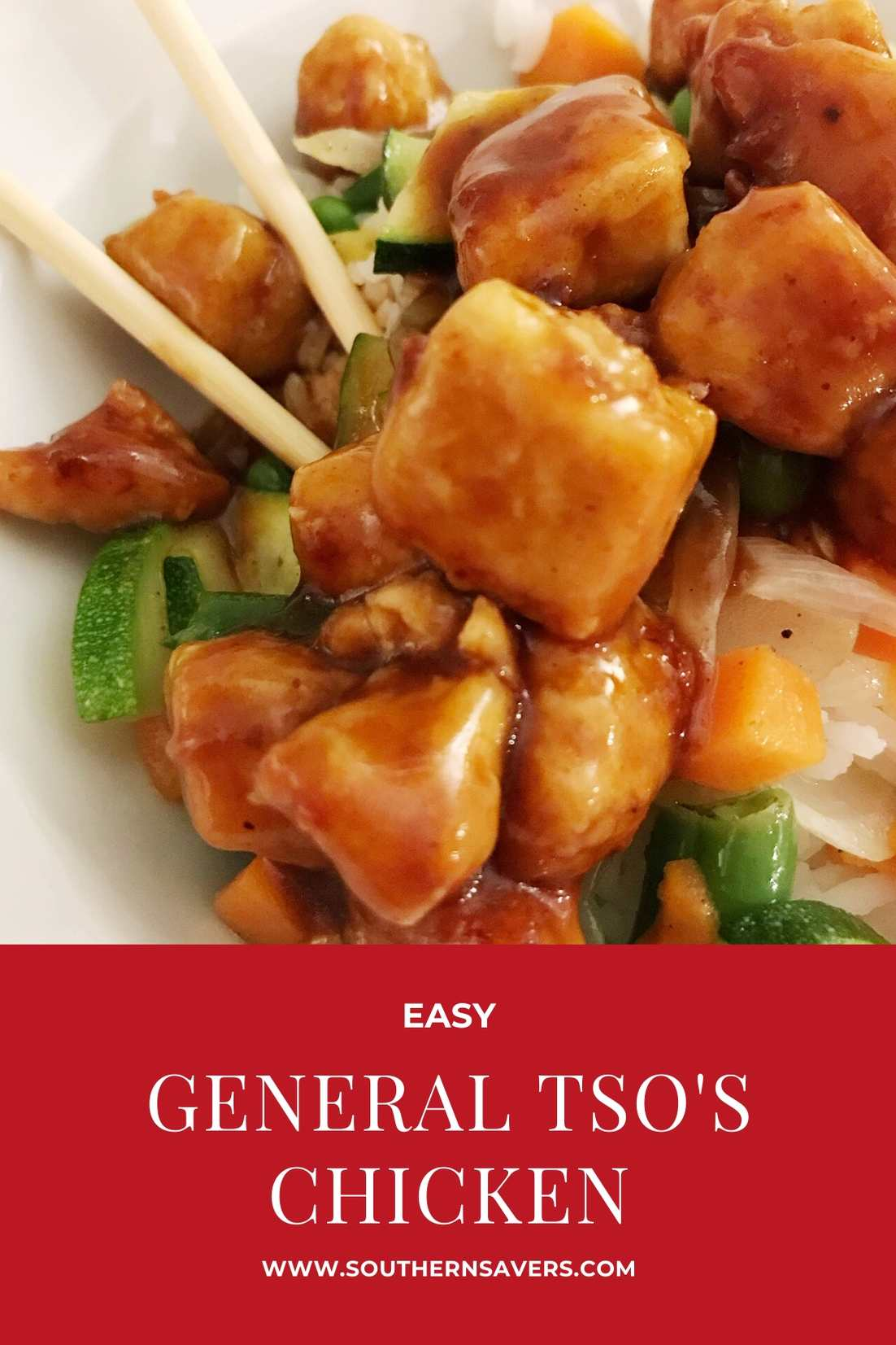 easy general tso's chicken pinterest