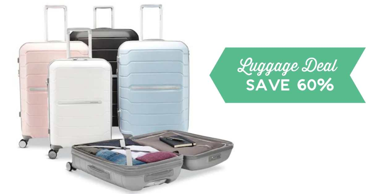 kohl's luggage deal 60% off