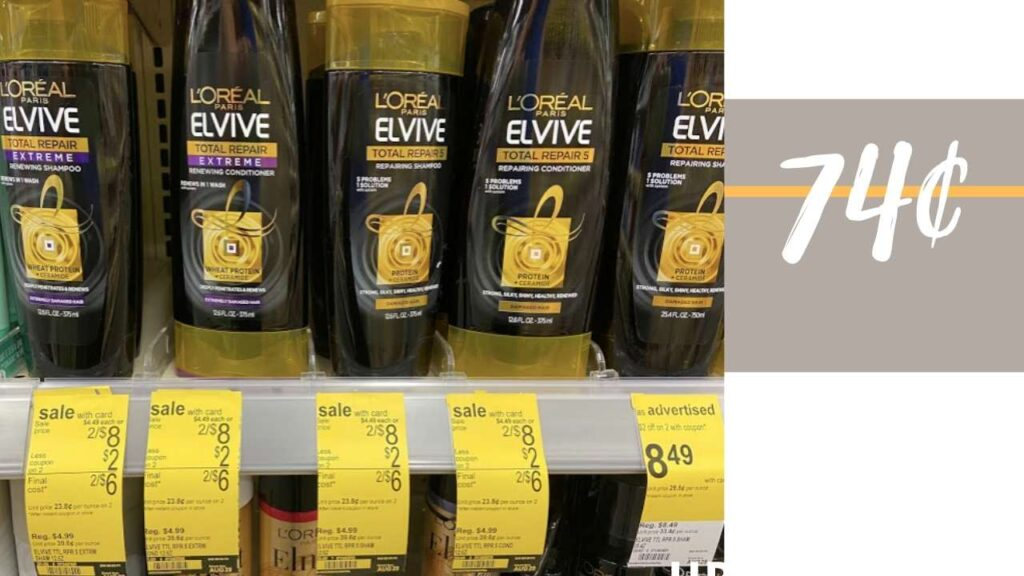 L Oreal Elvive Shampoo Conditioner For 74 Printable Coupon Southern Savers