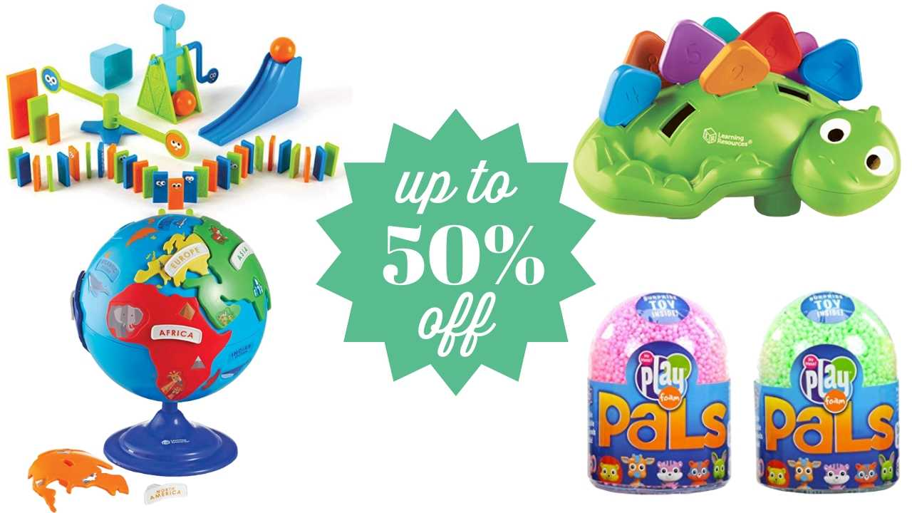 50 percent off educational toys