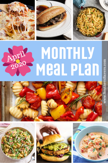 April makes me want lighter foods and an easy plan to follow when activities get busy. This monthly meal plan will cover 30 days of meals!