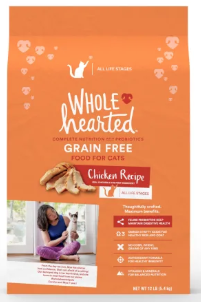 whole hearted grain free dry cat food