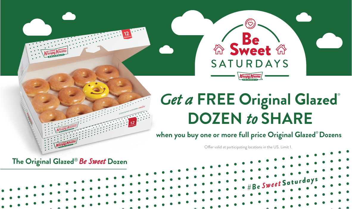 free dozen doughnuts at krispy kreme