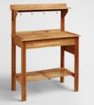 natural wood potting bench