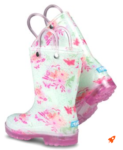 glitter light-up rain boots