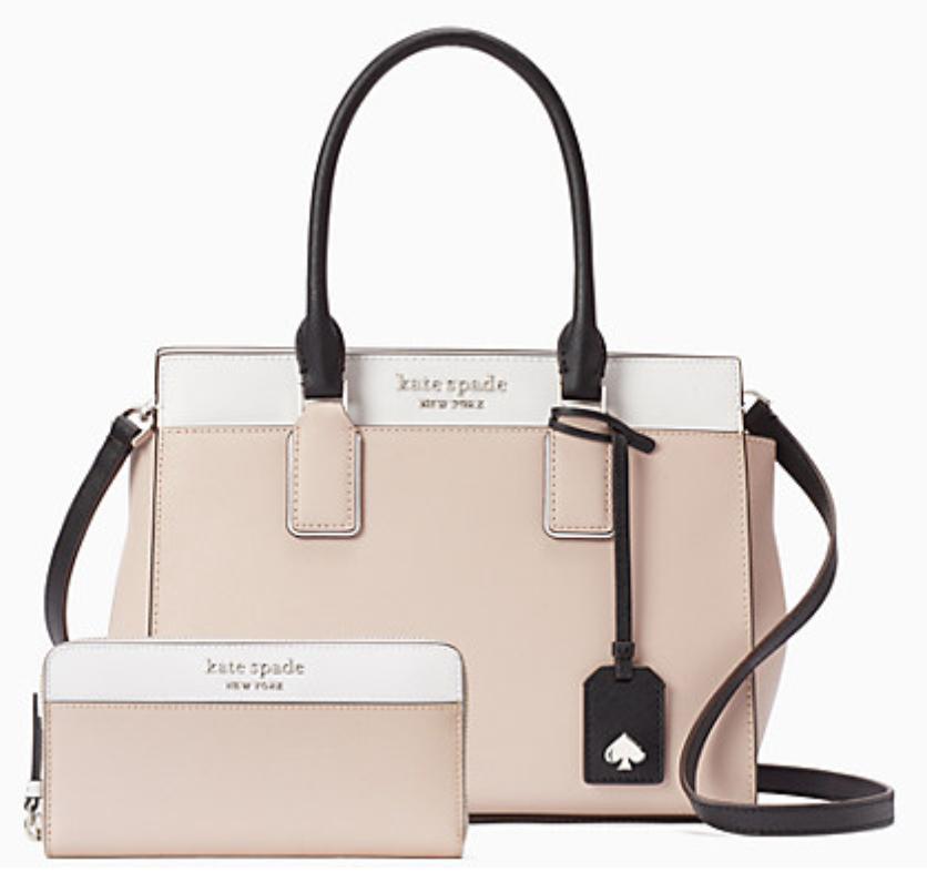 cameron medium satchel and wallet