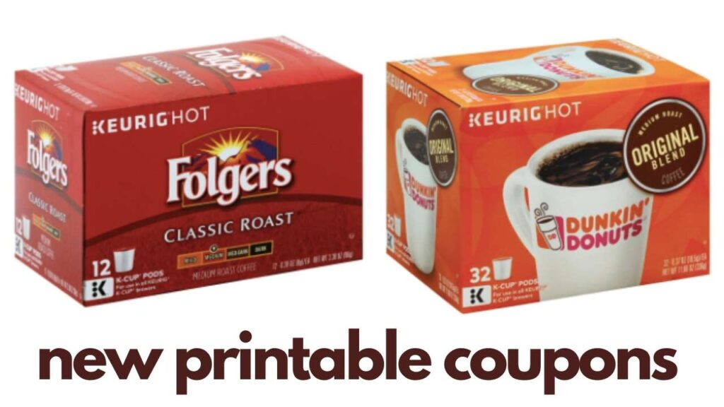 New Dunkin Donuts & Folgers Coupons