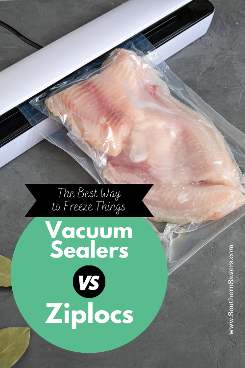 If you're trying to save money by freezing things, then you want to make sure they'll last in the freezer. Here are my thoughts on vacuum sealers vs ziplocs!