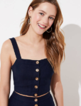 button cropped cami