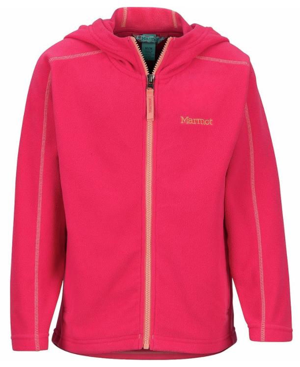marmot girls fleece jacket