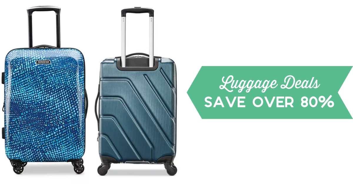 kohls luggage deals