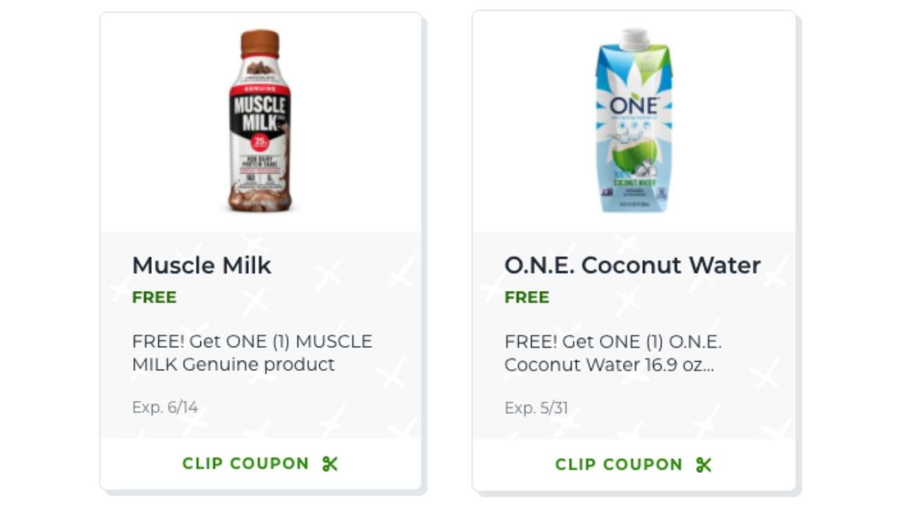 Free Muscle Milk And O N E Coconut Water Coupons At Publix Southern Savers