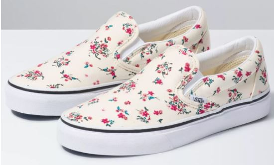 floral slip on shoes