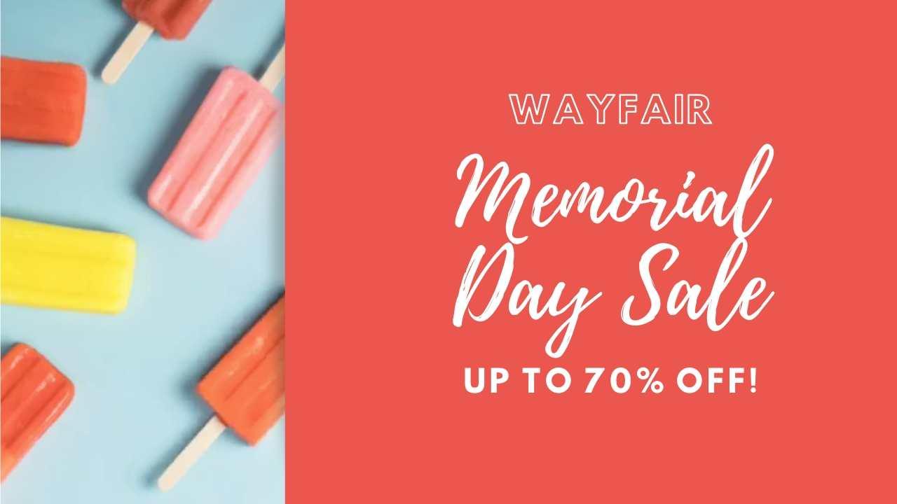 wayfair memorial day sale