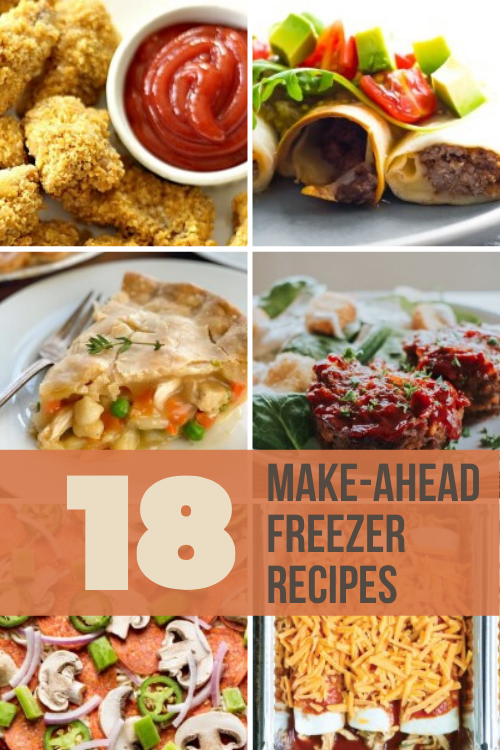 Make your life easier by stocking your freezer with food for the future! Each of these 18 make ahead freezer recipes is delicious and kid-friendly!
