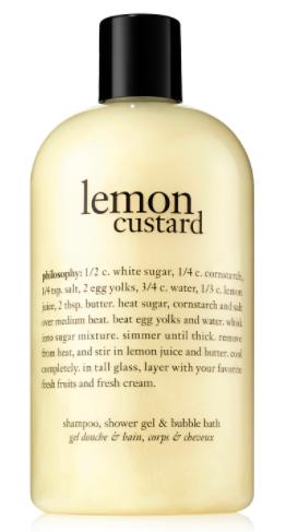 lemon custard shampoo and body wash