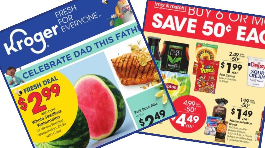 Kroger Weekly Ad 6 17 6 23 Southern Savers