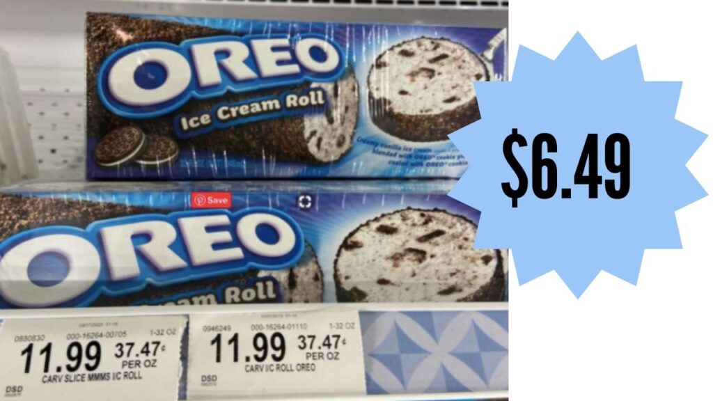 oreo ice cream roll