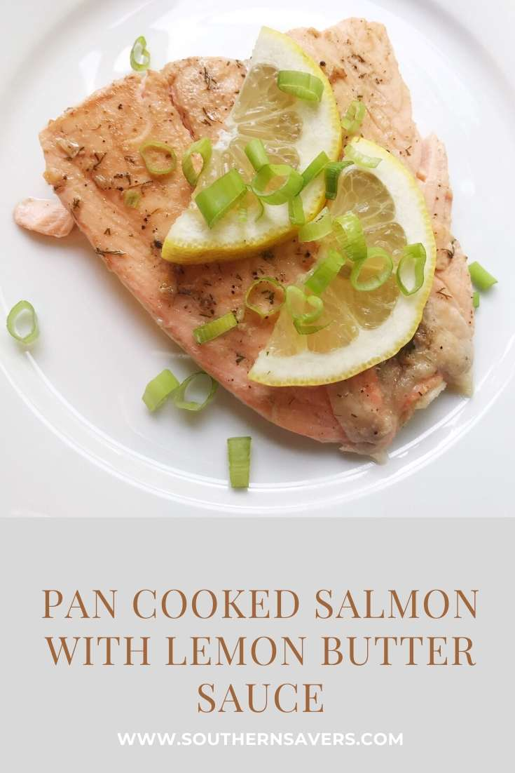 pan cooked salmon with lemon butter sauce