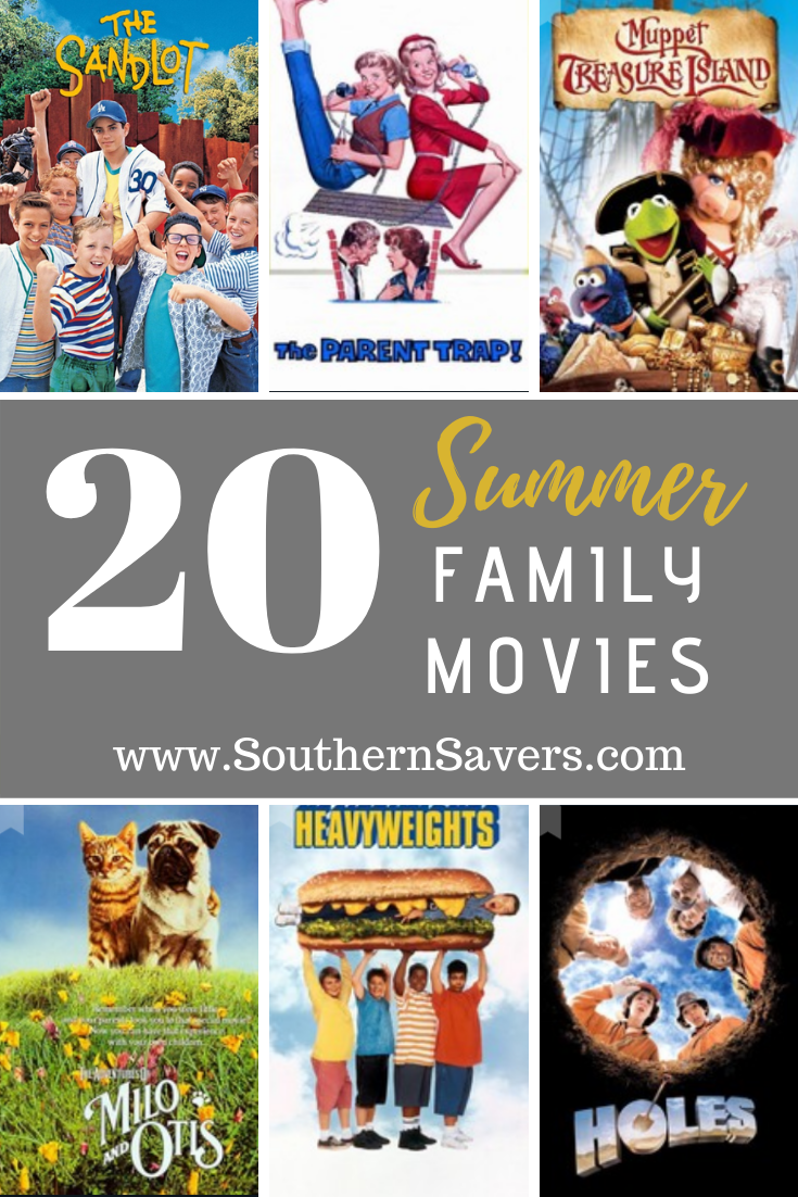 Finish off summer with a bang with a movie night that gives you all of the summer feels. These 20 summer family movies are a great place to start!