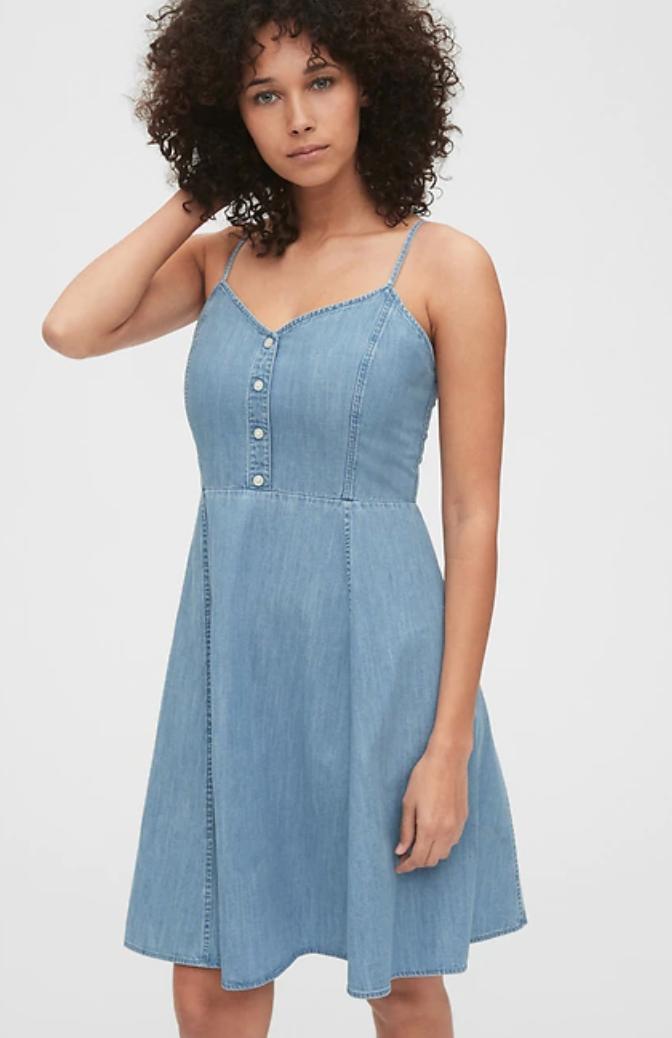 gap women's denim dress