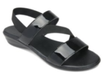 black chance sandals