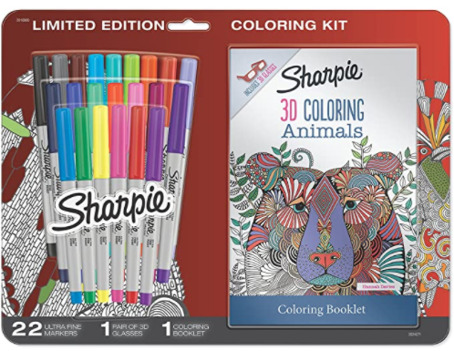 sharpies and coloring book set