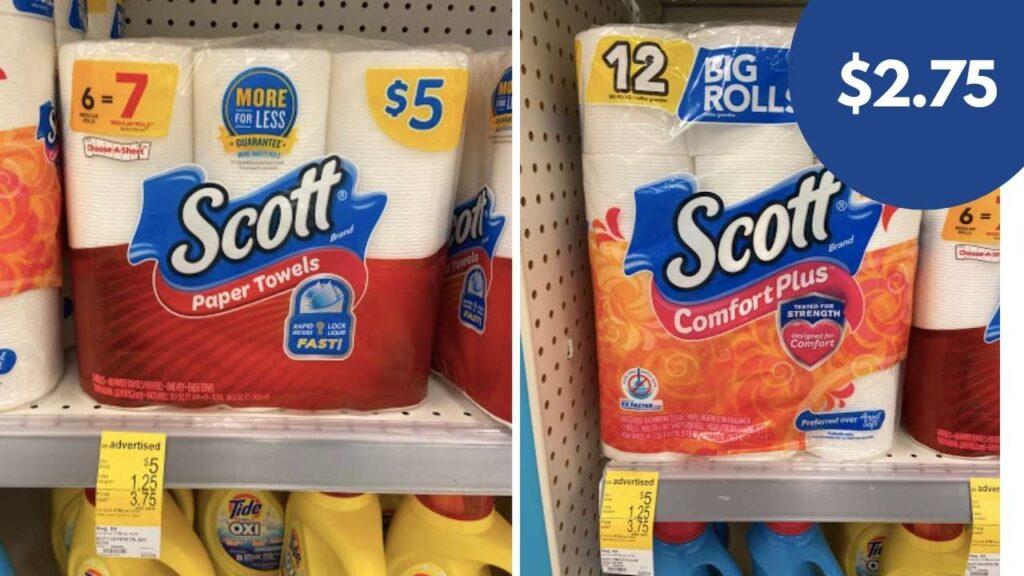 scott bath tissue and paper towels