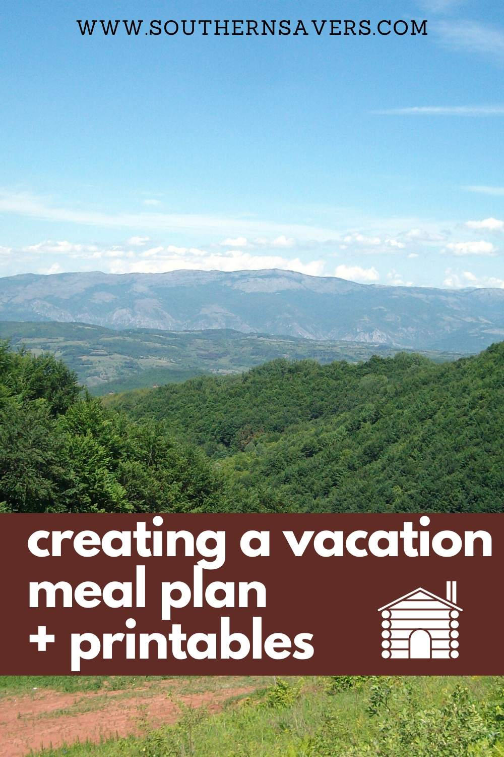 Save money on your next trip by taking time to create a vacation meal plan. This mountain vacation meal plan is a place to start, plus I've got my best tips!