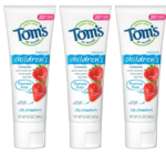 tom's kids toothpaste 3 pack