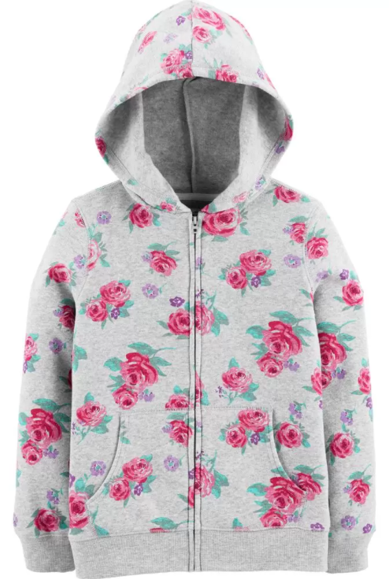 oshkosh floral hoodie
