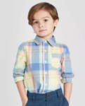 toddler boy oshkosh plaid button shirt