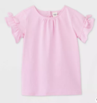 oshkosh girls pink knit shirt